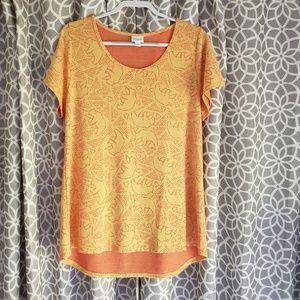 LuLaRoe Yellow Orange Bear Constellation Tunic Top